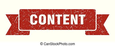 content grunge ribbon. content sign. content banner