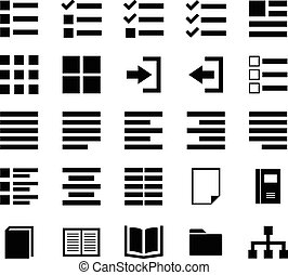 Content Icon set for your design