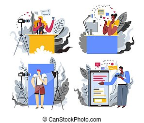 Content maker or Internet blogger profession or hobby ...