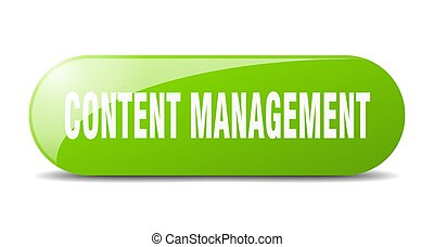 content management button. sticker. banner. rounded glass sign