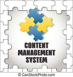 Content management system. CMS. Vector.