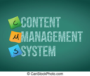 Content Management System illustration design over a white...