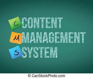 Content Management System illustration design over a white...