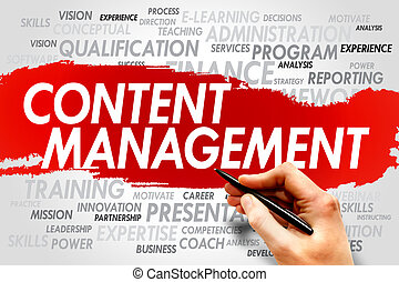 Content Management word cloud, business concept