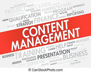 Content Management word cloud collage