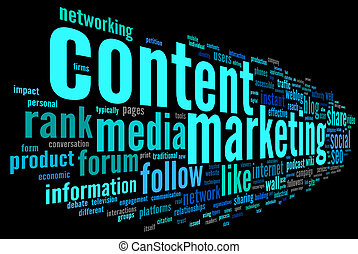 Content marketing conept in word tag cloud - Content ...