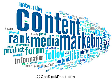 Content marketing conept in word tag cloud - Content...