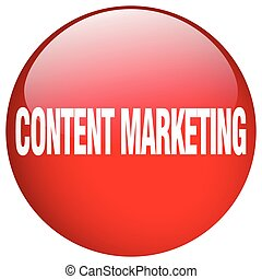 content marketing red round gel isolated push button