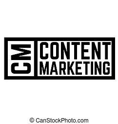 content marketing stamp