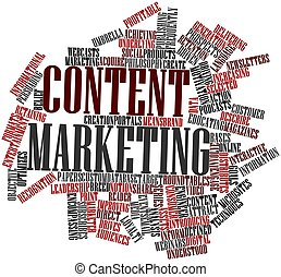 Content marketing - Abstract word cloud for Content...