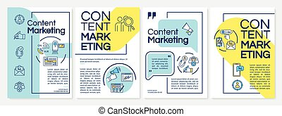 Content marketing tools brochure template. Inbound vs ...