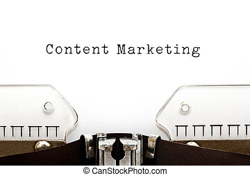 Content Marketing Typewriter - Content Marketing typed on...