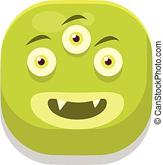 Content Monster Square Icon