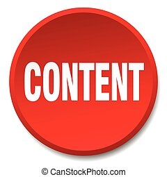 content red round flat isolated push button