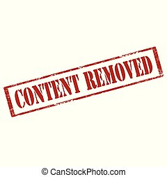 Content Removed-stamp