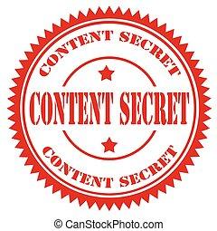 Content Secret-stamp