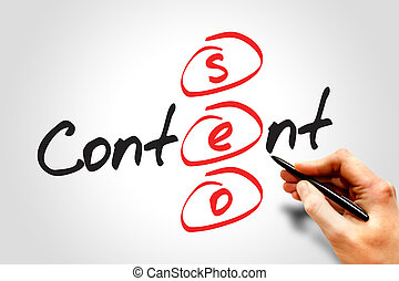 Content SEO (Search Engine Optimization) acronym, business...