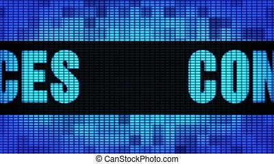 Content Services Front Text Scrolling LED Wall Pannel...