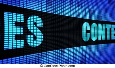 Content Services Side Text Scrolling LED Wall Pannel Display...