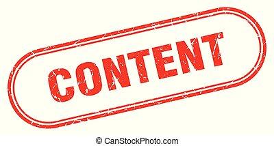 content stamp. content square grunge sign. content