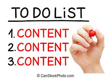 Content To Do List Concept