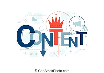 Content Word Typography