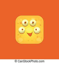 Content Yellow Monster Emoji Icon