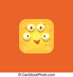 Content Yellow Monster Emoji Icon