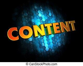 contenu, arrière-plan., concept, numérique