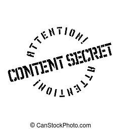 contenu, caoutchouc, top secret, timbre