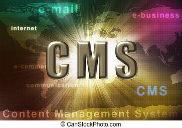 contenu, cms, gestion, -, système