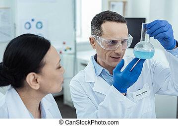 contenu, confection, expérience, chercheurs, laboratoire