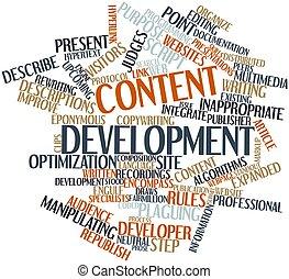 contenu, développement