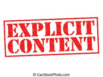 contenu, explicite