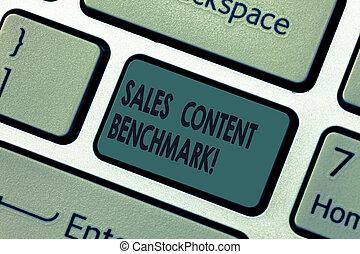 contenu, faire, concept, informatique, clavier, texte, créer, benchmark., ventes, idea., intention, signification, urgent, converts, clã©, clavier, écriture, enablement, message