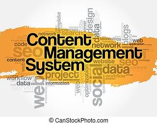 contenu, gestion, cms, système