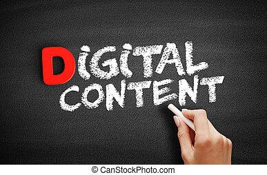 contenu, texte, numérique, tableau noir
