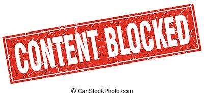contenu, timbre, carrée, bloqué