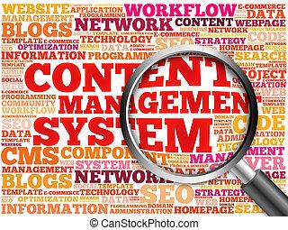 contenuto, amministrazione,  cms, sistema