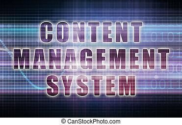contenuto, amministrazione, sistema