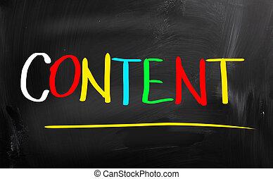 contenuto, concetto
