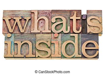 contenuto, cosa, concetto, -, dentro