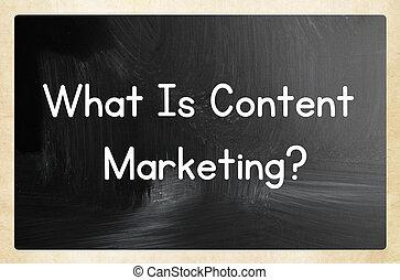 contenuto, cosa, marketing?