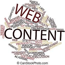 contenuto, web