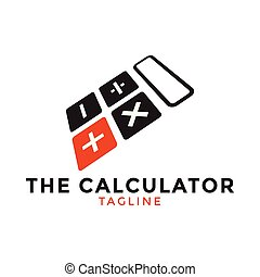 contest - Calculator logo icon design template vector