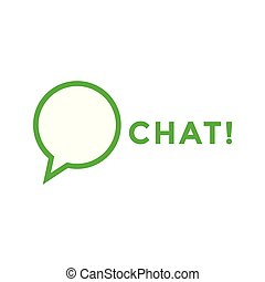 contest - Chat logo icon design template vector