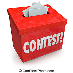 Contest Entry Form Box Enter Win Drawing Raffle Prize -...