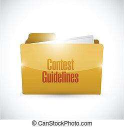 contest guidelines folder illustration design