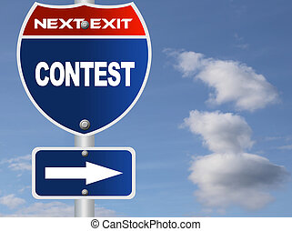 Contest road sign