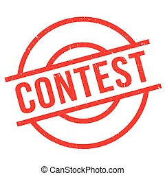 Contest rubber stamp